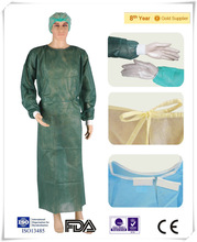 CE/ISO cleanroom use sanitary surgical disposable PP/SMS visitor gown