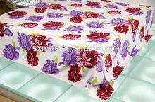 fashion foil fleece mexican terry cloth blanket
