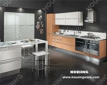 Contemporary design PVC finish kitchen,Bluml hardware