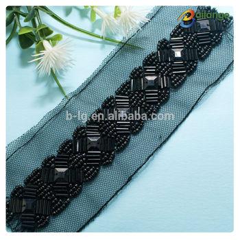 wedding dress beads trim patterns