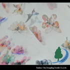 New design butterfly printing stretch chiffon fabric