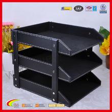 Black LeatherThree Floors Ducument Tray on Sale