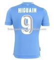 Nome de jogador famoso camisa 2014-2015 novo estilo original grau #9 higuain napoli jersey