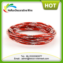 HR 2mm red color diamond cut aluminum wire for arts and crafts