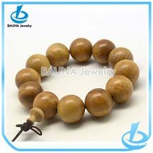 Handmade 12mm round wood catholic prayer beads bracelet