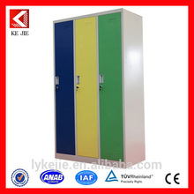 Movable antique style file cabinet bedroom wardrobe flat pack fashionable 3 door wardrobe with mirror