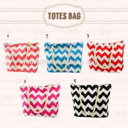 wholesale tote bag/ canvas tote bag/ fashion chevron printed tote bag