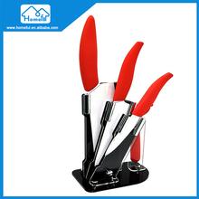Ceramic Blade Colorful Handle 5pcs santoku utility fruit Knife Set Kitchen