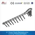 2.7 Distal peroné reconstrucción de bloqueo placas de dispositivos médicos, Quirúrgico dispositivo