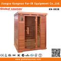saludable de madera en el acento de infrarrojos sauna habitación de diseño para 3 personas