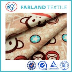 The monkey pattern,flannel fleece,baby pajama of flannel