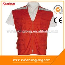 Good Design Twill Cotton Men Red Vest