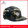 custom made high quality camo designed print 5 panel caps with woven label