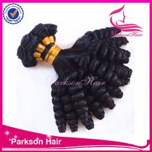 New hair styles wholesale brazilian Virgin human Hair weft spring curl top quality Funmi hair