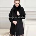 lã grosso poncho veste mulheres de espessura de lã deinverno casaco com gola de pele