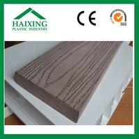 wood plastic composite exterior wall cladding pvc decking CE,SGS,ani-UV for flooring wood plastic