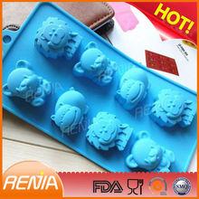 bakeware animal shape cake baking mould animal silicone molds