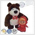 el precio de fábrica al por mayor de encargo de peluche juguetes de peluche juguetes masha y el oso