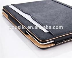 High Quality Tan Leather Case For Ipad Air 2 ipad 6 with Sleep Wake