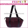 Eco-friendly Low MOQ Wholesale soft pink dot point travel pet carrier for small dog