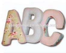 Alphabet Letter Cushion cover,children soft novelty cushion cover