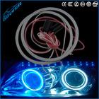2x 80MM 93 LED COB Chip SMD Car Angel Eyes Headlight Bright Halo Ring Light
