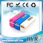 Candy colors ABS shell mobile power bank 2000 to 2800mAh