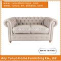 Doble asiento del sofá de, sofá de sofa, sofá de vez en cuando, la espalda y los brazos con botones, tb-9106-2