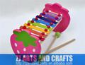de madera de colores notas 8 xilófono juguetes para los niños