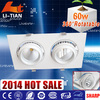 new design super bright high power ajustable round led mini down lights with CE Rohs 4000k 5000k