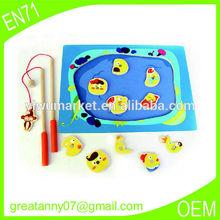 Yellow fishing rod Alibaba China Yiwu educational wooden toys factory wholesale