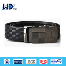Men soft leather automatic buckle belt