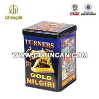 Embossing traditionary rectangle lipton tea flavors tins CD-060
