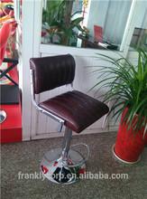 Luxury leather chromed bar stool