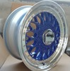 Hot sale replica 15-18inch BBS rs car alloy wheel blue and machine lip