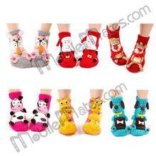 Cute 3D Needle Christmas Sock ,Warm Thick Cartoon Design Weave Socks Christmas Ornament