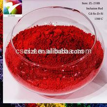 hot sale Cadmium selenium Inclusion pigment color Dark Red used for decorative ceramics well received in European market