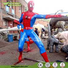 Life-size Outdoor Fiberglass Spiderman Movie Sculpture