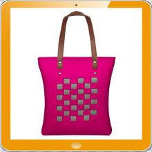 Newest design hot 100% polyester felt shoulder bag for ipad mini