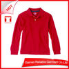 Cheap plain long sleeve promotional polo shirt for school kids wholesale