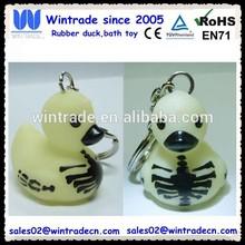 Halloween design promotion toy/skull/skeleton keychain duck