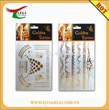 2015 hot-sale Jewelry Temporary Gold Foil Metallic Foil FlashTattoo/Flash Tattoo design