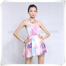 Simple vestido largo, hawaiano vestido para para 2015