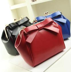 Z72384A Lady bow appliqued fashion handbag shoulder bag