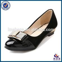 Black pu leather wholesale italian ladies shoes