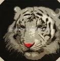 ภาพวาดที่ทำด้วยมือจิตรกรรมสีน้ำมันเสือ