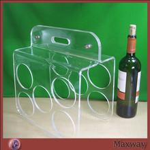Extravagant acrylic wine bottle display holder