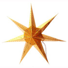 7 point christmas hanging paper star