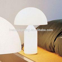 White Glass mushroom table lamp,G9*3 bulbs,restaurant table lamp
