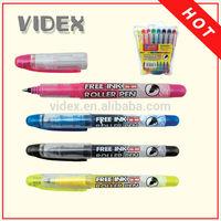 water based dry erase marker,1691 highlighter pen,free ink roller ball pen